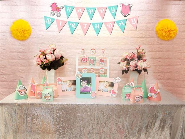 Set mini baby girl màu hồng xanh min
