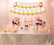 Set phụ kiện sinh nhật bé gái tuổi gà màu hồng hoàng gia