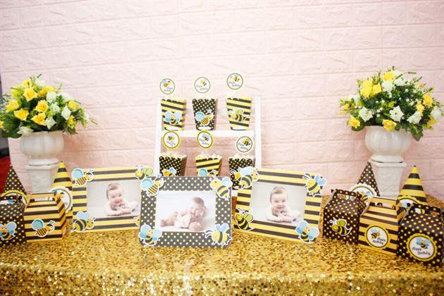 Set mini vàng đen trang trí sinh nhật thật đáng yêu