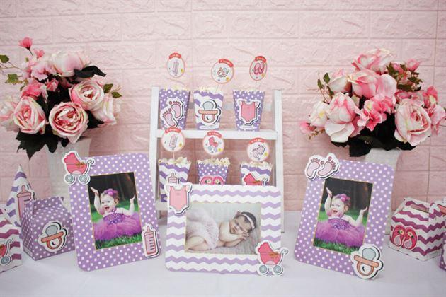 Set mini trang trí sinh nhật bé Baby Girl