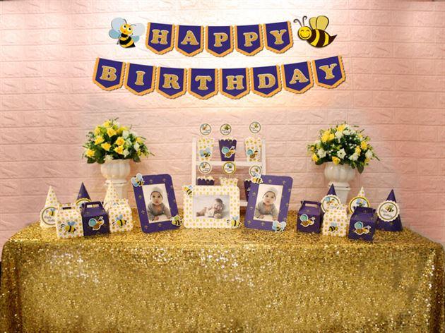Set mini bé ong màu xanh hoàng gia