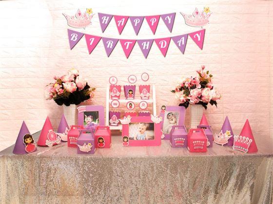 Set mini công chúa màu hồng tím