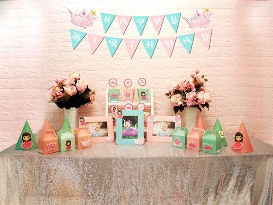 Set mini công chúa màu hồng xanh min