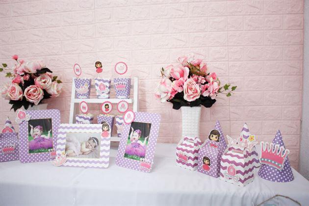 Set mini công chúa với tông tím điệu đà