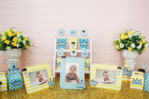 Trang trí sinh nhật với set mini hoàng tử