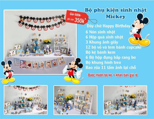 Set phụ kiện sinh nhật Mickey