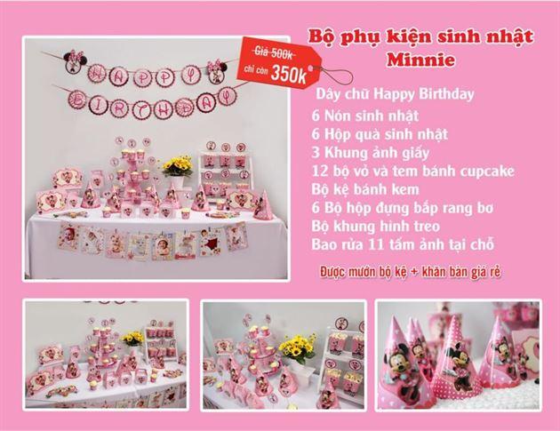Set phụ kiện sinh nhật Minnie