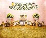 Set phụ kiện sinh nhật bé trai tuổi gà màu vàng đen
