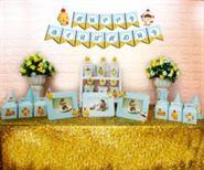 Set phụ kiện sinh nhật bé trai tuổi gà màu xanh da trời