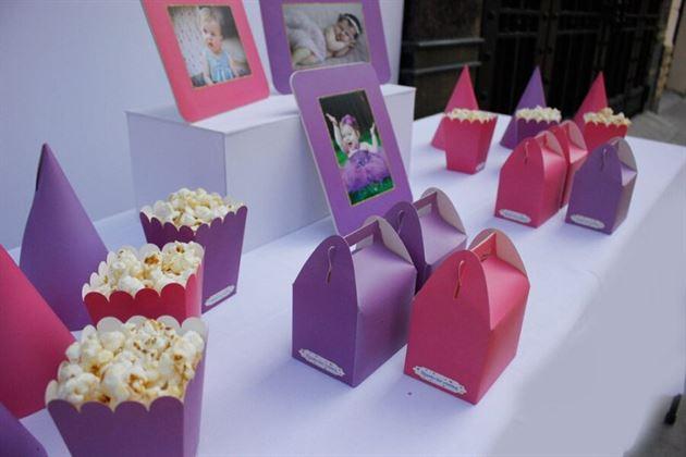 Set phụ kiện sinh nhật cho bé gái màu hồng tím