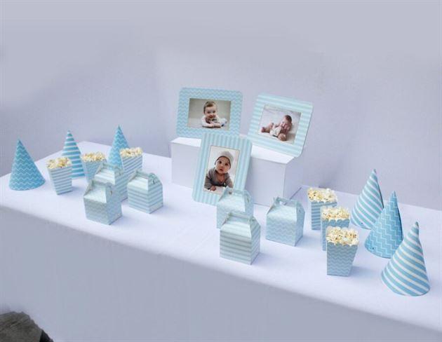 Set phụ kiện sinh nhật cho bé trai màu xanh da trời