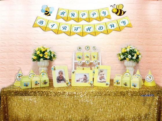 Set mini bé ong màu vàng hoàng gia