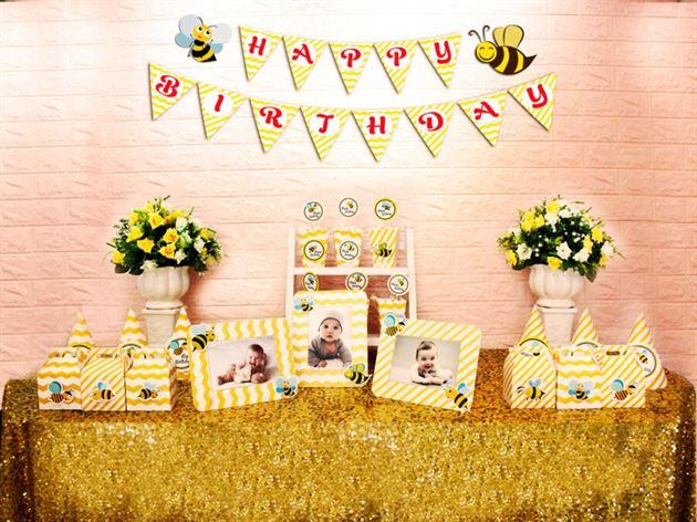Set mini bé ong màu vàng zigag
