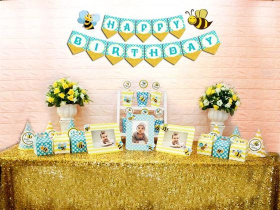 Set mini bé ong màu xanh min vàng