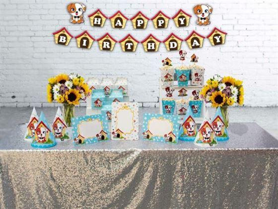 Set trang trí sinh nhật bé trai tuổi chó