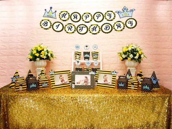 Set mini hoàng tử màu vàng đen