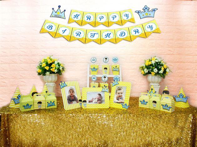 Set mini hoàng tử màu vàng hoàng gia