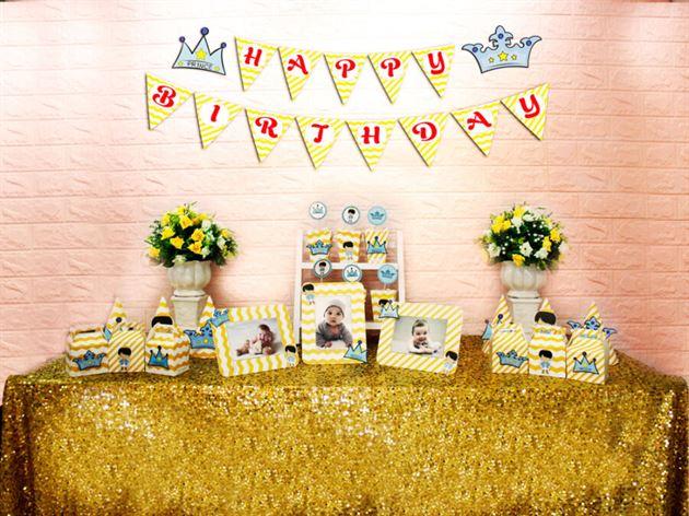 Set mini hoàng tử màu vàng zigzag