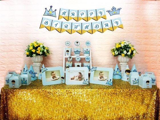 Set mini hoàng tử màu xanh da trời