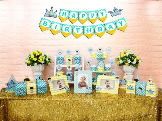 Set mini hoàng tử màu xanh min vàng