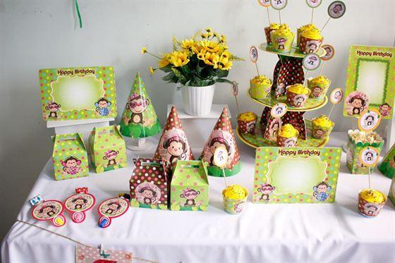 Set phụ kiện sinh nhật cho bé gái tuổi khỉ