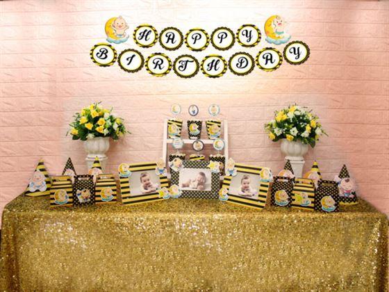 Set mini baby boy màu vàng đen