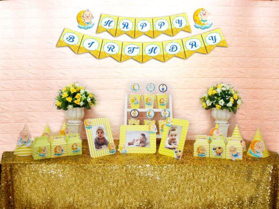 Set mini baby boy màu vàng hoàng gia