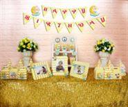 Set mini baby boy màu vàng zigzag