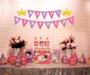 Set mini vương miện bé gái màu hồng tím