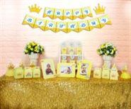 Set mini vương miện bé trai màu vàng hoàng gia