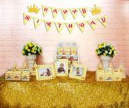 Set mini vương miện bé trai màu vàng zigzag