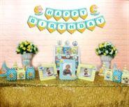 Set mini baby boy màu xanh min vàng