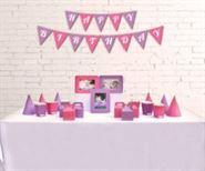 Set phụ kiện sinh nhật màu hồng tím