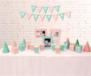 Set phụ kiện sinh nhật màu hồng xanh min