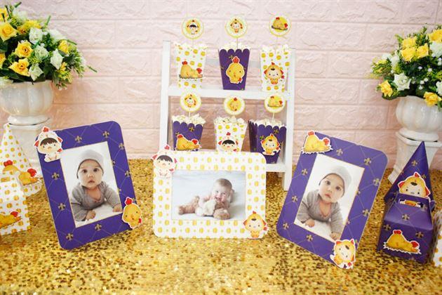 Set trang trí sinh nhật trọn gói cho bé trai với màu xanh hoàng gia sang trọng