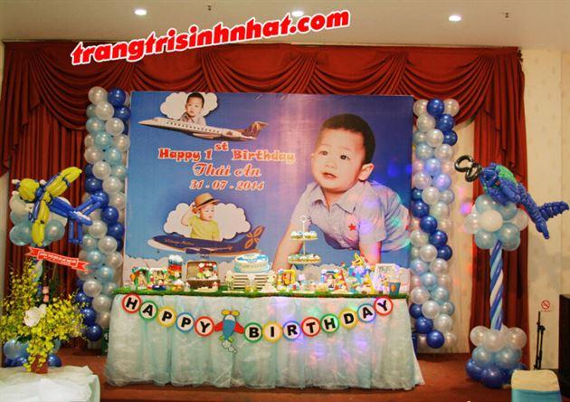 Trọn gói trang trí sinh nhật cho bé