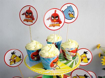 Tem bánh sinh nhật Angry Birds