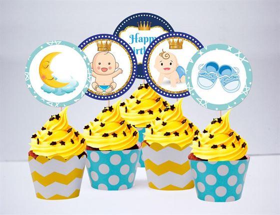 Tem bánh cupcake baby boy
