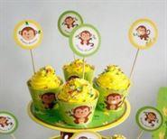 Tem bánh cupcake bé trai Tuổi Khỉ