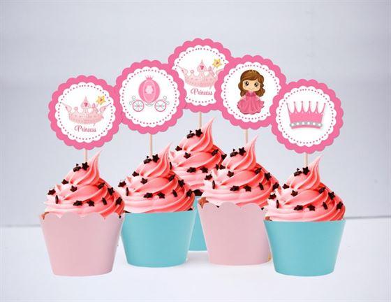 Tem bánh cupcakes Công Chúa