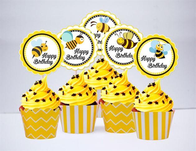 Term bánh cupake Bé Ong màu vàng hoàng gia