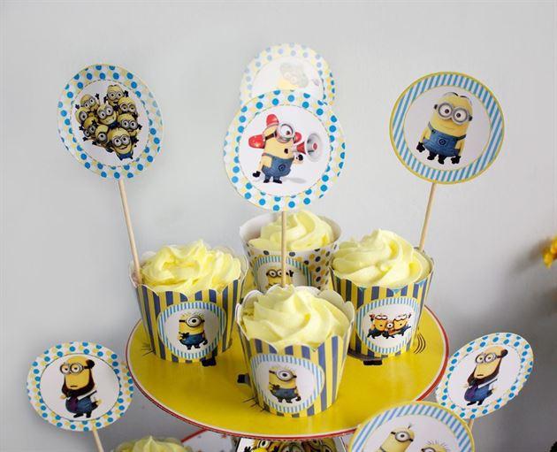 Tem Bánh Cupcake Minion