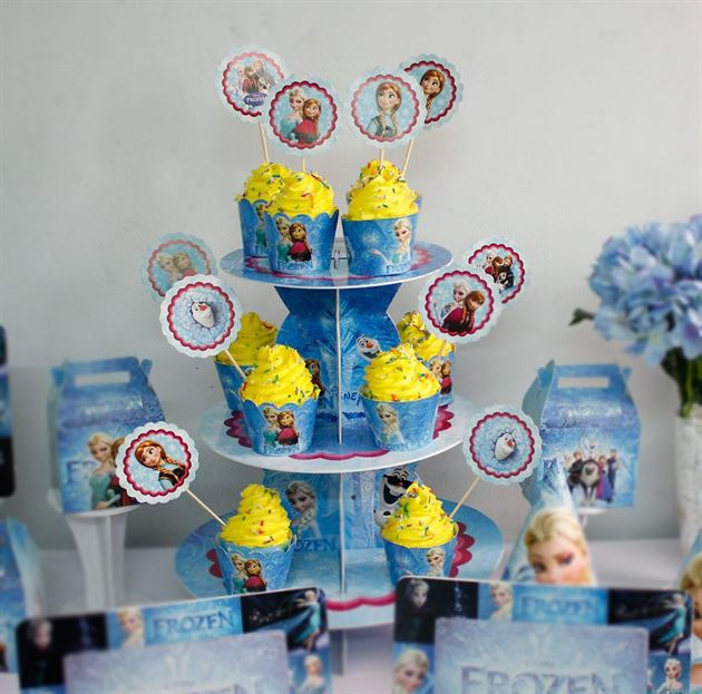 Tem bánh cupcake Frozen