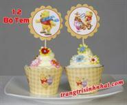Tem Bánh Cupcake Gấu Pooh