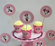 Tem Bánh Cupcake Sinh Nhật Minnie