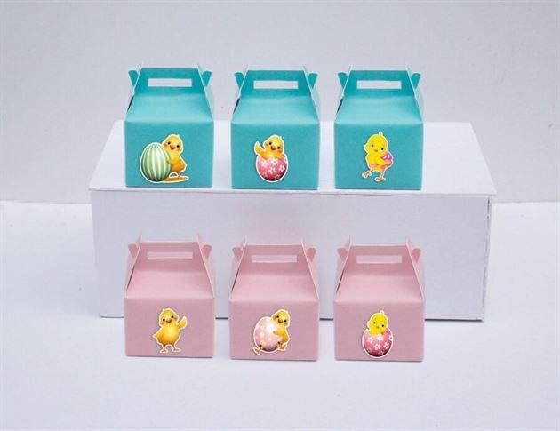 Tem hộp quà sinh nhật bé gái tuổi gà màu hồng xanh min