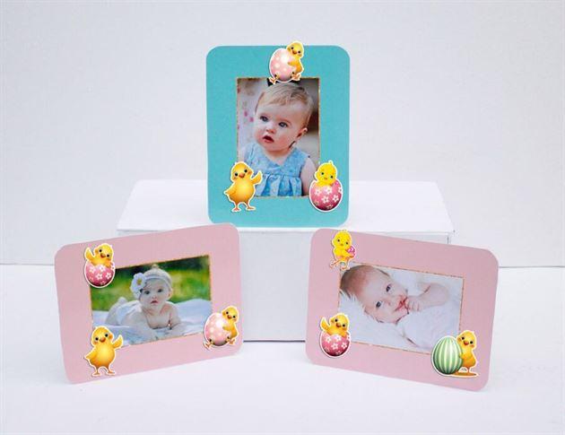 Tem khung hình sinh nhật bé gái tuổi gà màu hồng xanh min