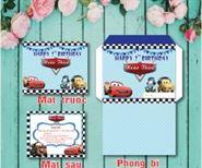 Thiệp sinh nhật MC Queen xanh