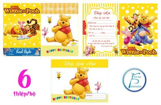 Thiệp mời sinh nhật gấu Pooh