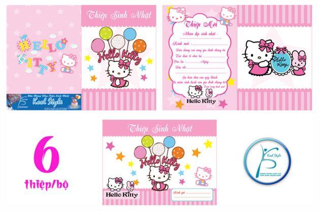 Thiệp sinh nhật chủ đề Kitty